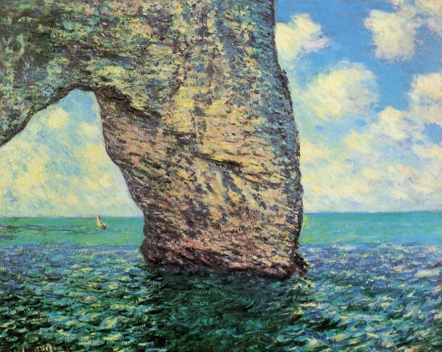 famous painting The Manneport at High Tide of Claude Monet