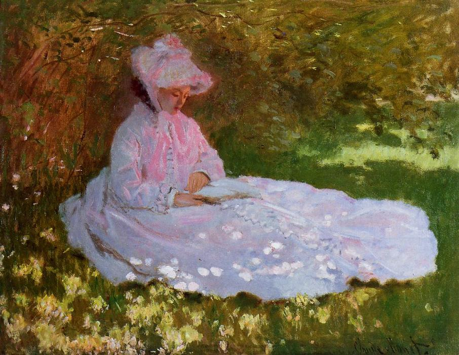 famous painting The Reader of Claude Monet