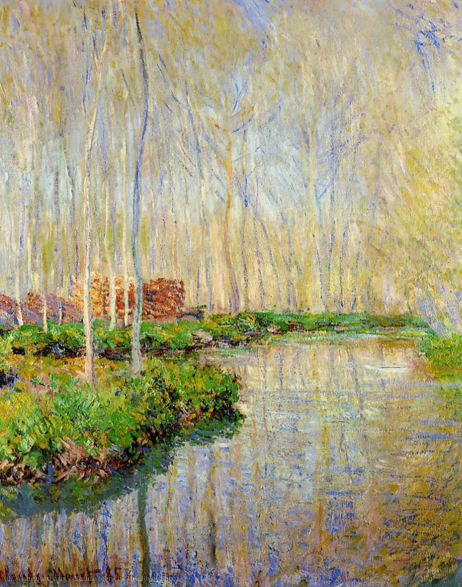famous painting The River Epte of Claude Monet