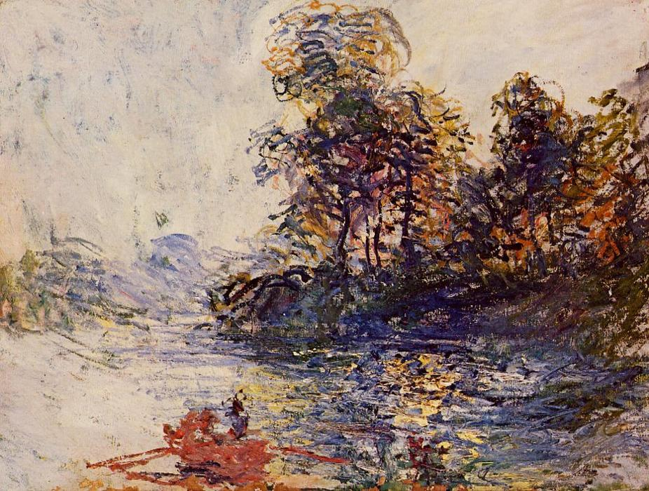 famous painting The River of Claude Monet
