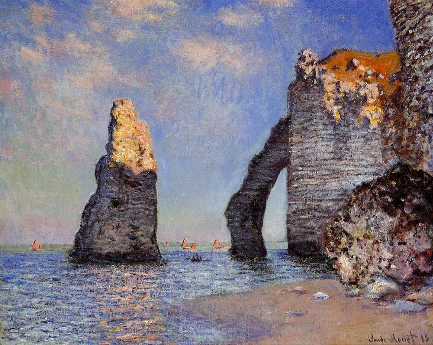 famous painting The Rock Needle and the Porte d'Aval of Claude Monet