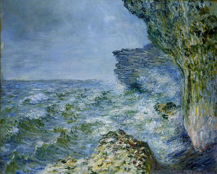 famous painting The Sea at Fecamp of Claude Monet