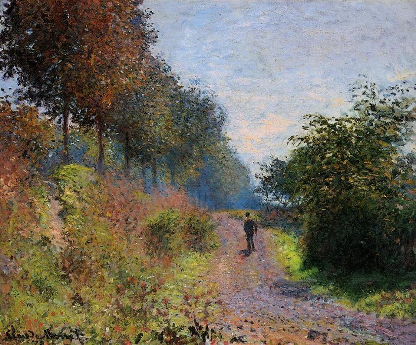famous painting The Sheltered Path of Claude Monet