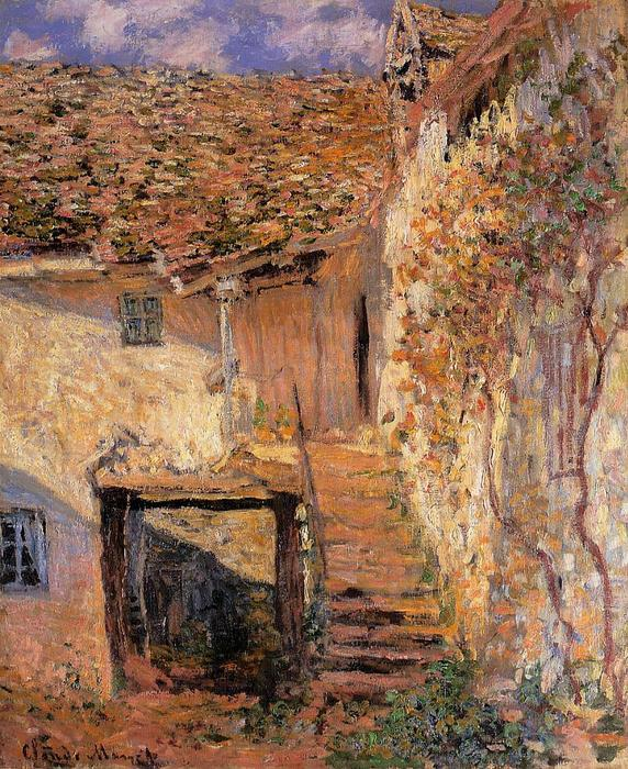 famous painting The Steps of Claude Monet
