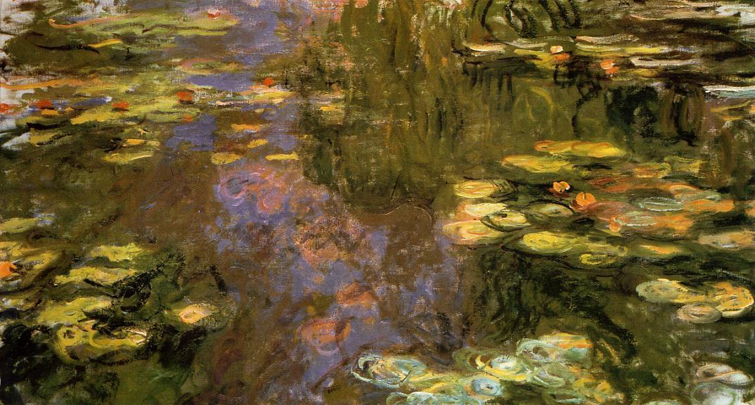 famous painting The Water-Lily Pond 8 of Claude Monet