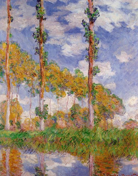 famous painting Three Trees in Summer of Claude Monet