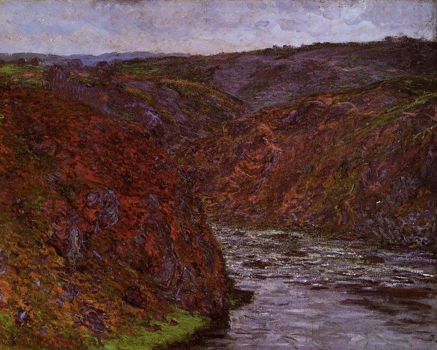 famous painting Valley of the Creuse, Grey Sky of Claude Monet