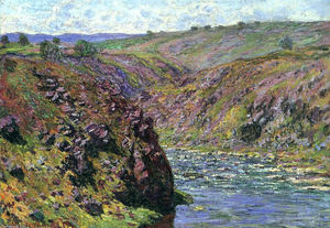 Claude Monet - Valley of the Creuse, Sunlight Effect