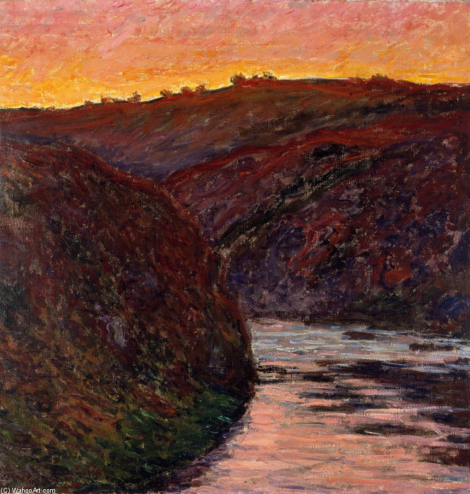 famous painting Valley of the Creuse, Sunset of Claude Monet