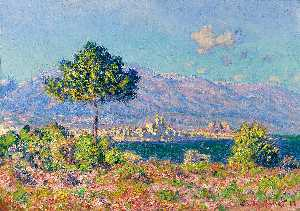 Claude Monet - View of Antibes from the Plateau Notre-Dame