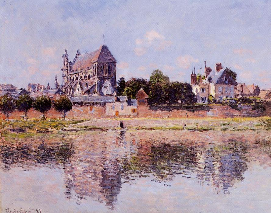 famous painting View of the Church at Vernon of Claude Monet
