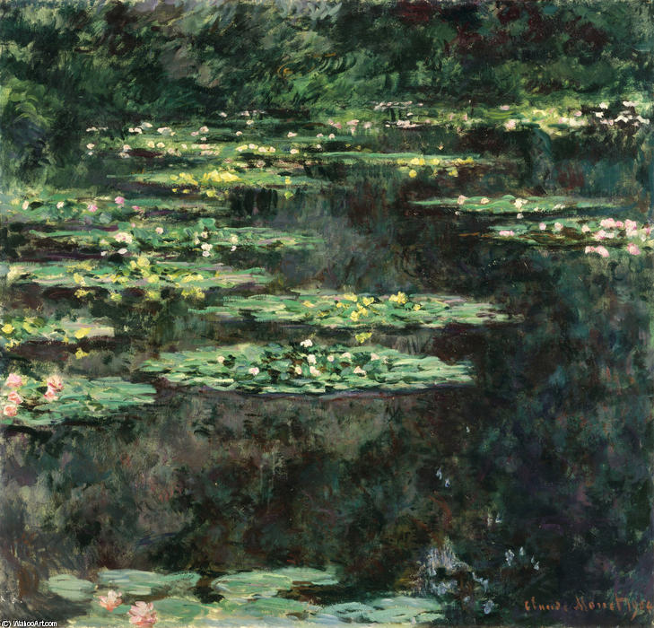 famous painting Water Lilies (11) of Claude Monet