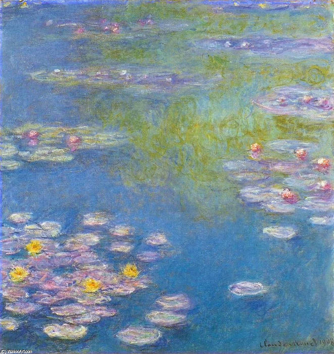 famous painting Water Lilies (35) of Claude Monet