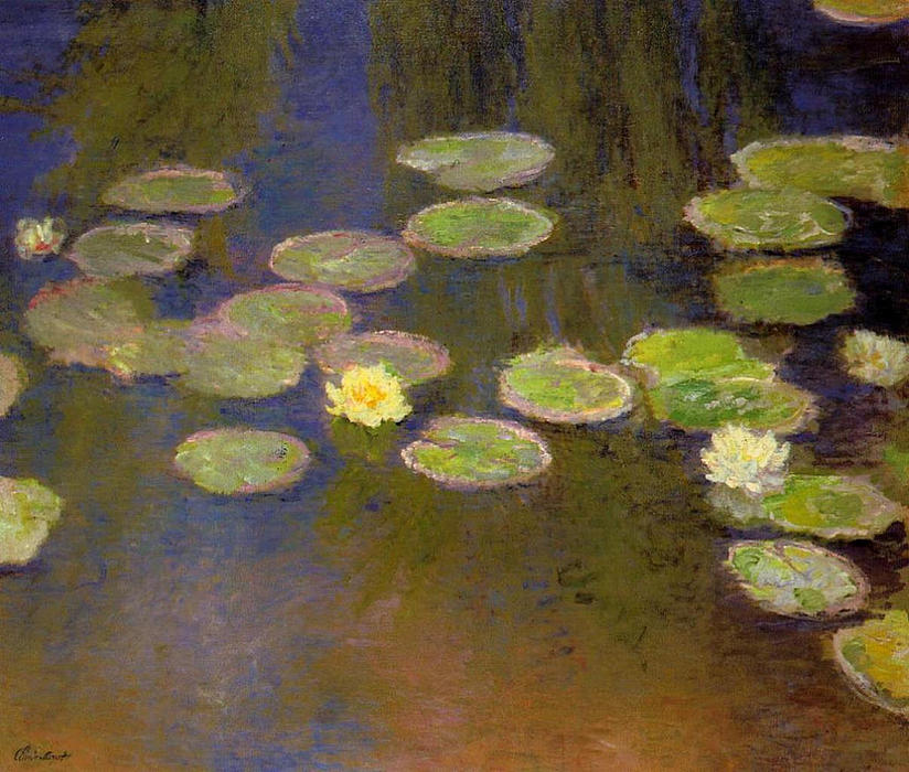 famous painting Water Lilies of Claude Monet