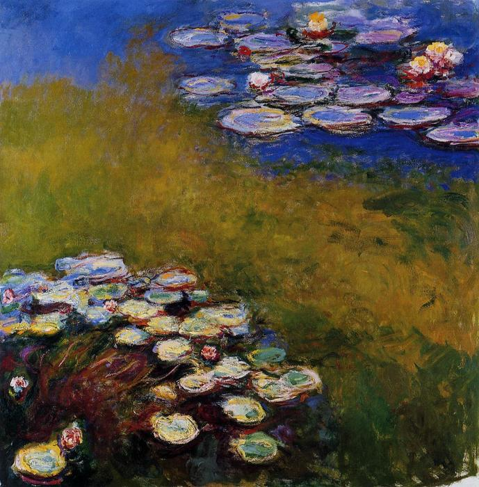 famous painting Water-Lilies 49 of Claude Monet