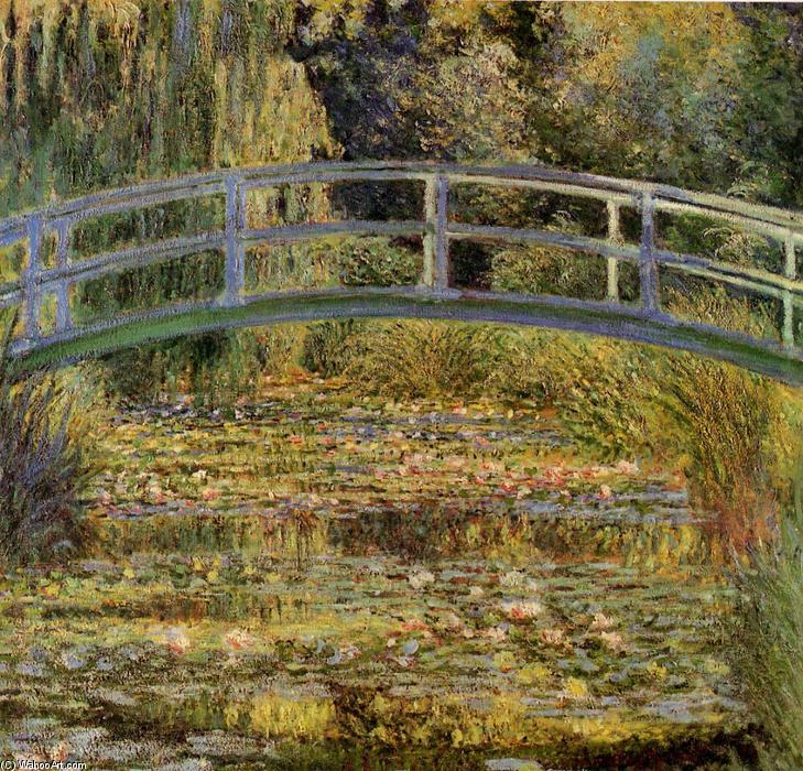 famous painting Water-Lily Pond of Claude Monet