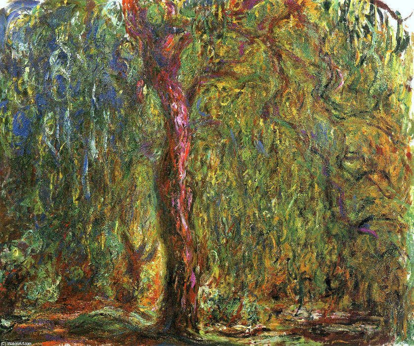 famous painting Weeping Willow of Claude Monet