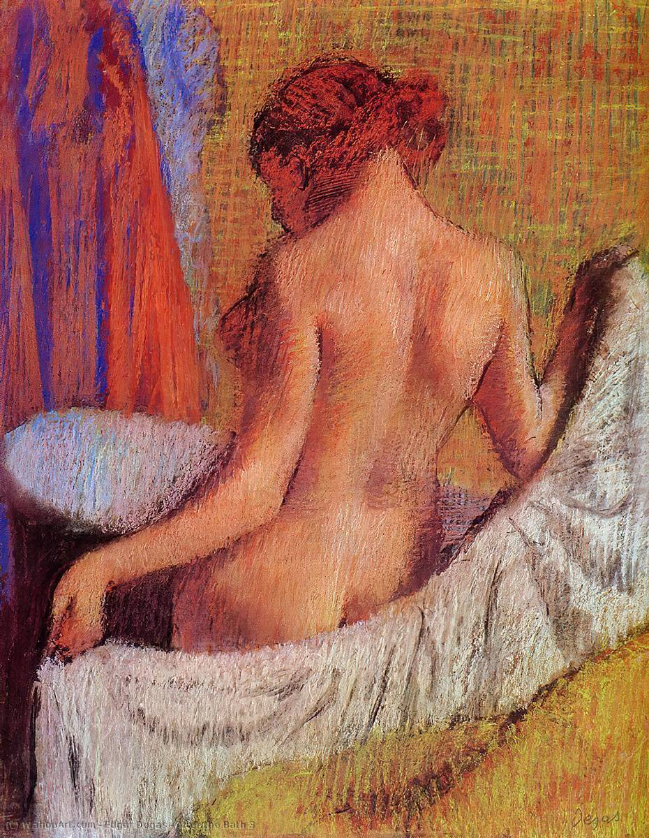 famous painting After the Bath 3 of Edgar Degas