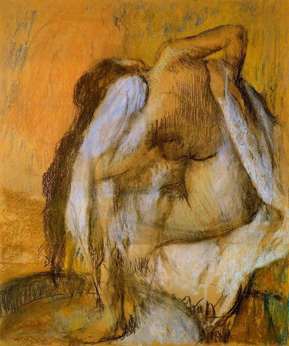 famous painting After the Bath, Woman Drying Herself 1 of Edgar Degas