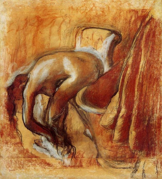famous painting After the Bath, Woman Drying Herself 2 of Edgar Degas