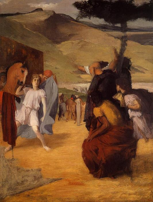 famous painting Alexander and Bucephalus of Edgar Degas