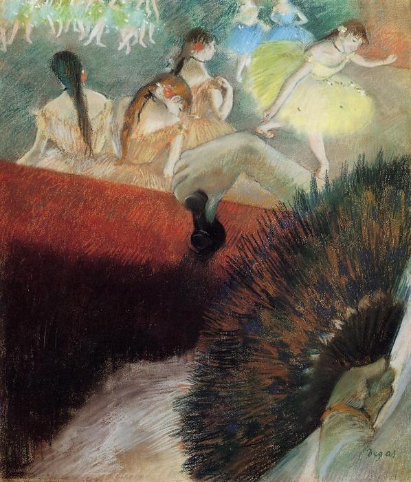 famous painting At the Ballet of Edgar Degas
