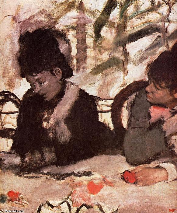 famous painting At the Cafe of Edgar Degas