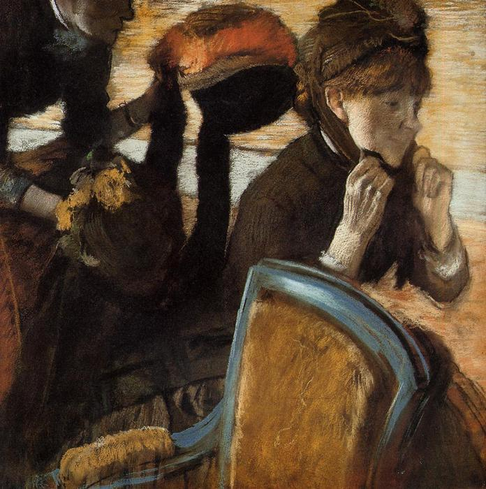 famous painting At the Milliner's 1 of Edgar Degas