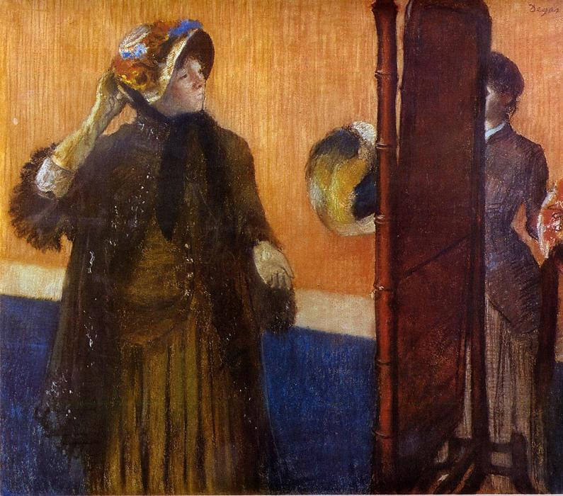 famous painting At the Milliner's 3 of Edgar Degas