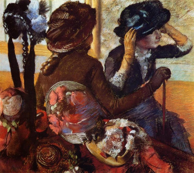 famous painting At the Milliner's 4 of Edgar Degas