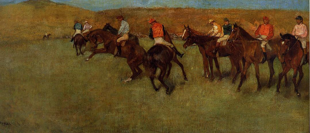 famous painting At the Races - Before the Start of Edgar Degas