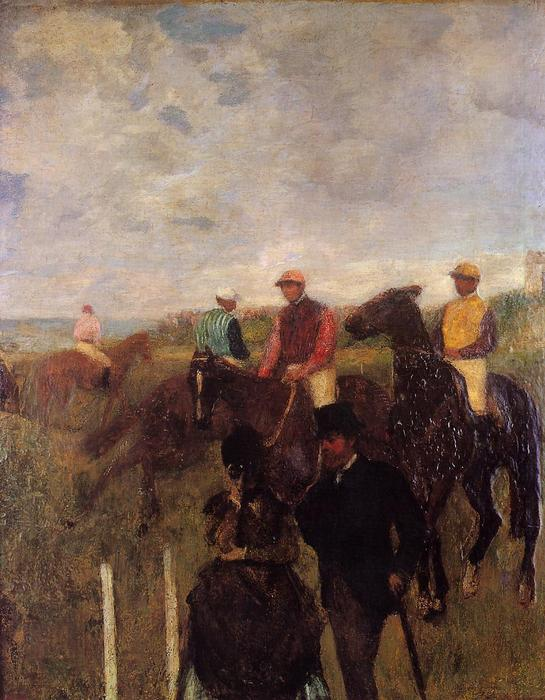 famous painting At the Races 1 of Edgar Degas