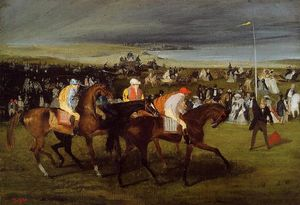 Edgar Degas - At the Races. the Start