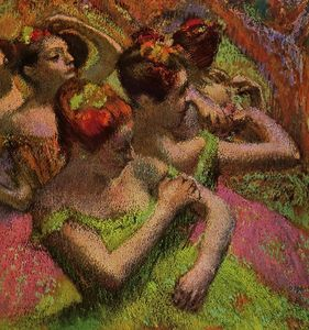 Edgar Degas - Ballerinas Adjusting Their Dresses