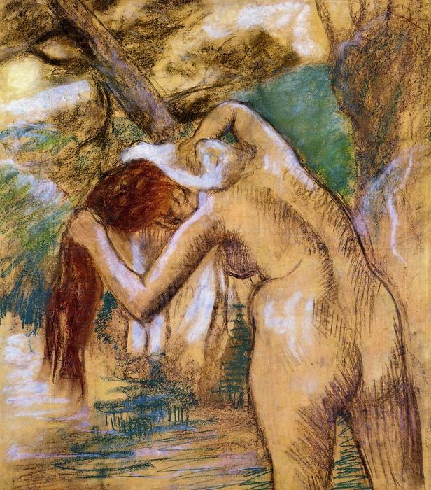 famous painting Bather by the Water of Edgar Degas