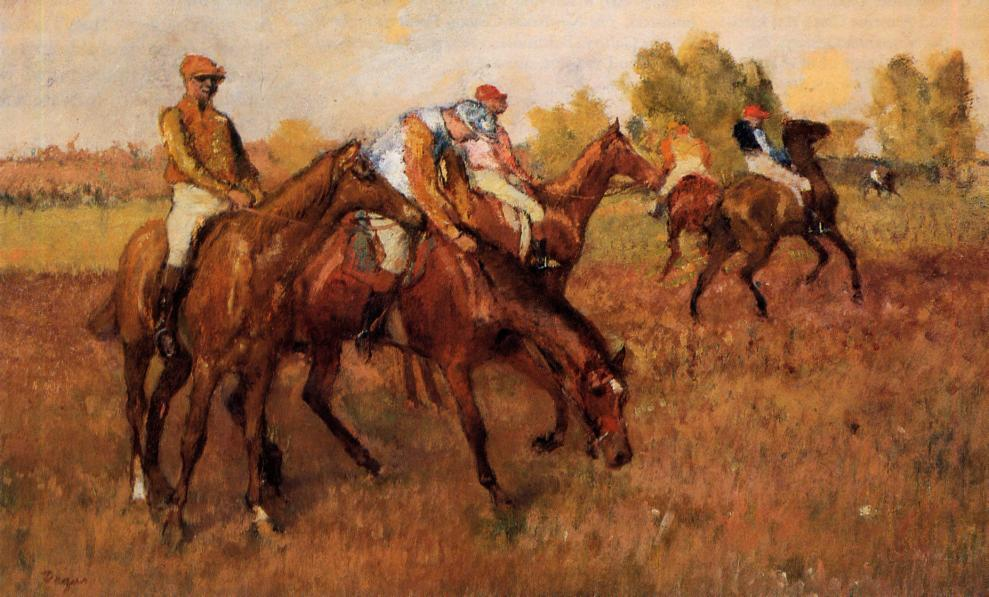 famous painting Before the Race 1 of Edgar Degas