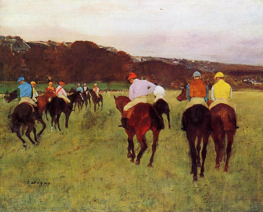 famous painting Before the Race 4 of Edgar Degas