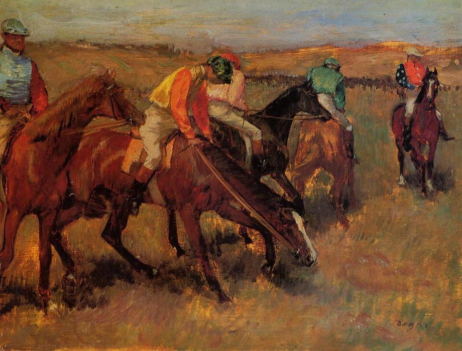 famous painting Before the Race of Edgar Degas