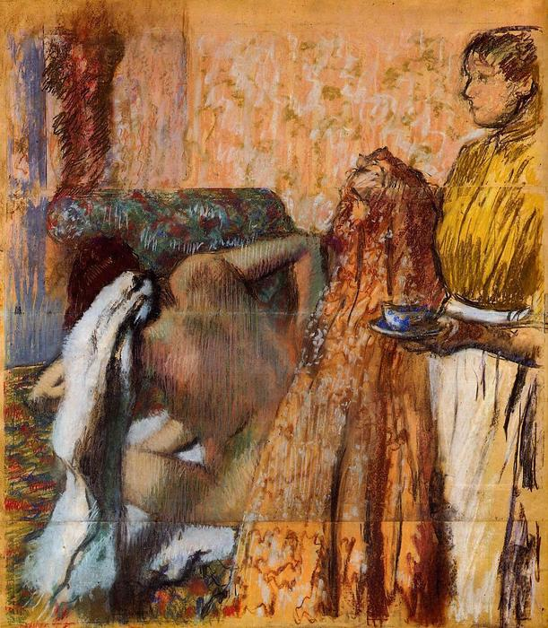 famous painting Breakfast after the Bath 1 of Edgar Degas