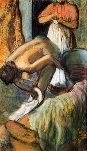 Edgar Degas - Breakfast after the Bath 2
