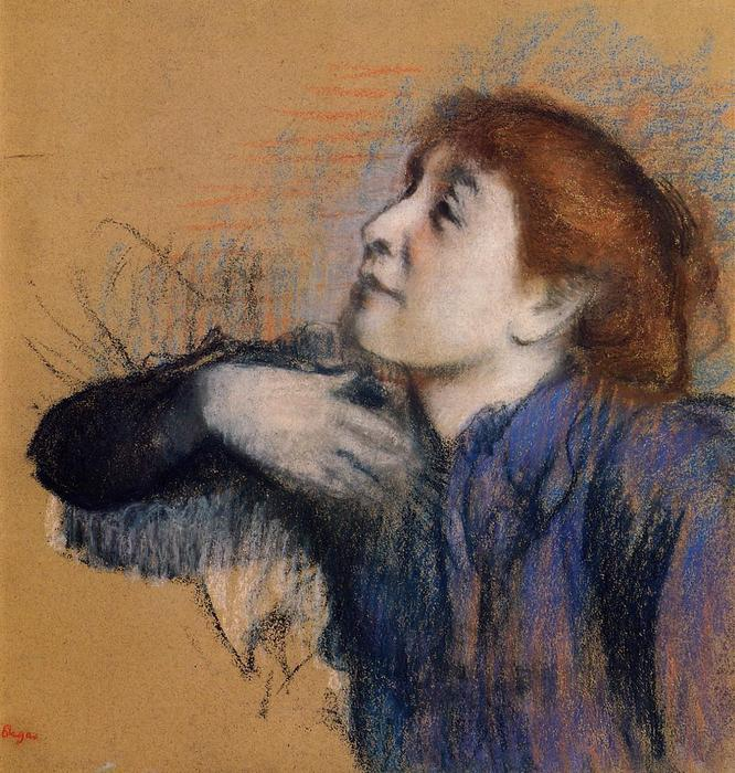 famous painting Bust of a Woman of Edgar Degas