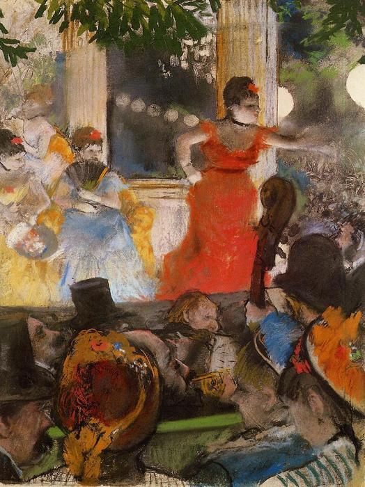 famous painting Cafe Concert - At Les Ambassadeurs of Edgar Degas