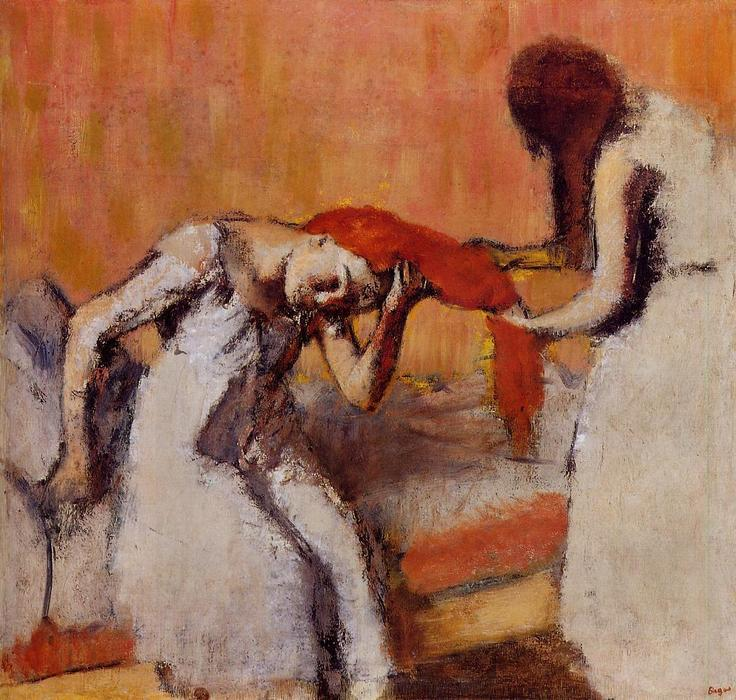 famous painting Combing the Hair 1 of Edgar Degas