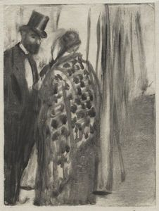 Edgar Degas - Conversation. Ludovic Halévy and Mme. Cardinal