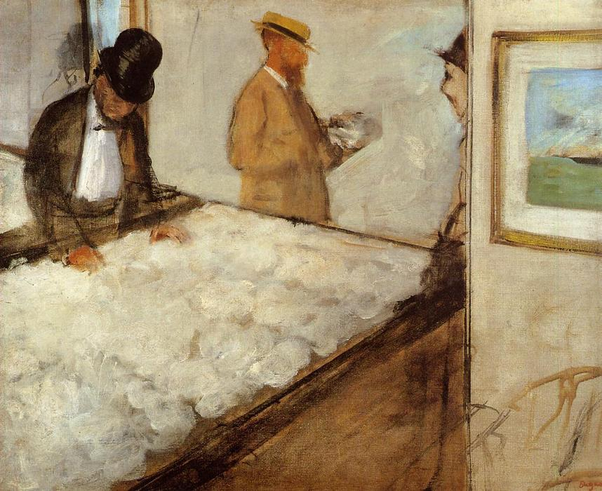famous painting Cotton Merchants in New Orleans of Edgar Degas