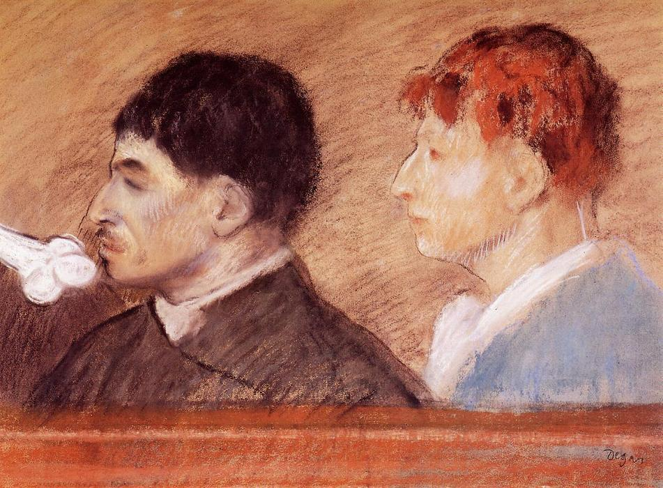 famous painting Criminal Physiognomies of Edgar Degas