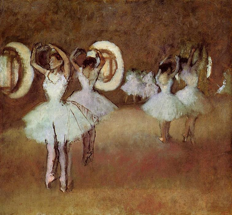 famous painting Dance Rehearsal in the Studio of the Opera of Edgar Degas