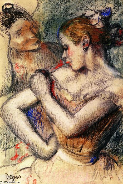 famous painting Dancer 1 of Edgar Degas