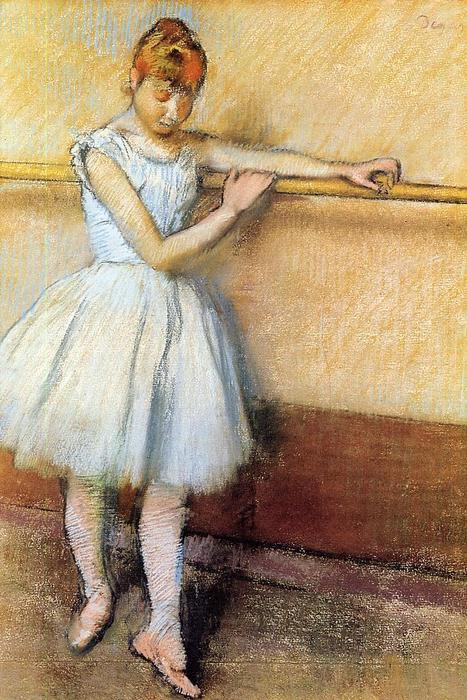 famous painting Dancer at the Barre of Edgar Degas