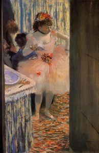 Edgar Degas - Dancer in Her Dressing Room